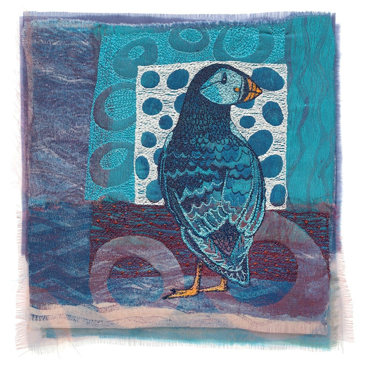 Puffin in Blue - Giclee Print