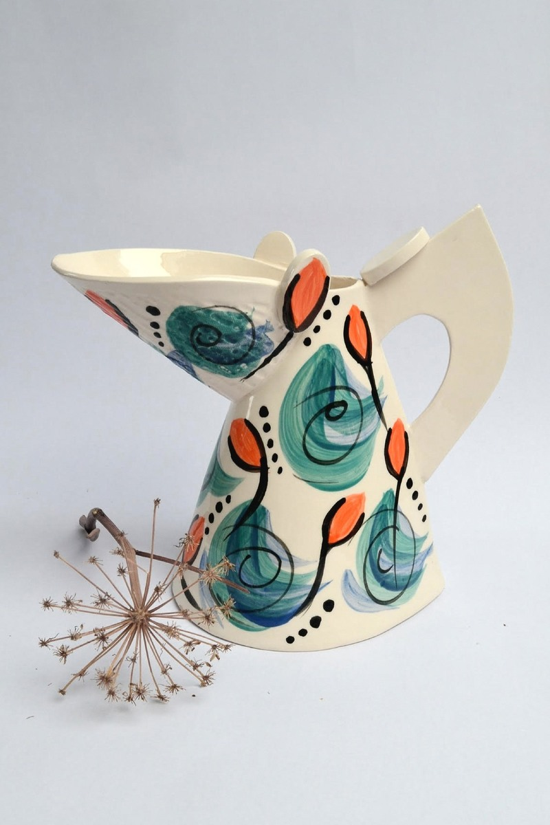 Jug with leaves and buds